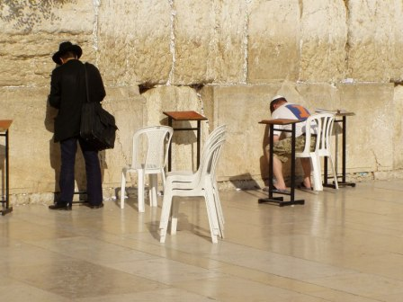 Israeliani in preghiera al muro del pianto - Jewish worshipers at the Western Wall